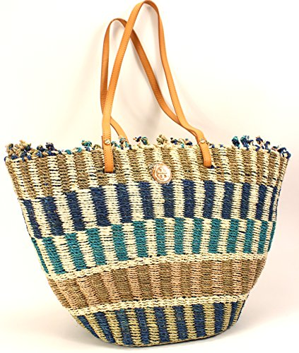 Tory Burch Large Shopper Tote in Multi-color Straw