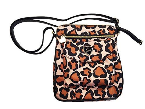 Betsey Johnson Women's Nylon Mush Crossbody/Xbody Handbag, Brown