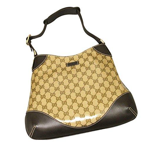 Gucci Brown Hobo Shoulder Bag Handbag with Leather Trim