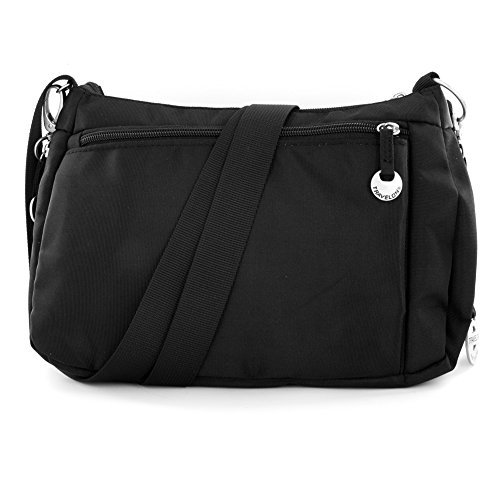 Travelon E/W Shoulder with Leather Trim (Black)