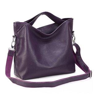ILISHOP Women's Genuine Leather Shoulder Bag Fashion Tote Handbag For Ladies Hot Sale NB060-purple
