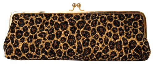 Full Beaded, Clutch, Metal Frame, Evening Bags – Tiger (61 18001)