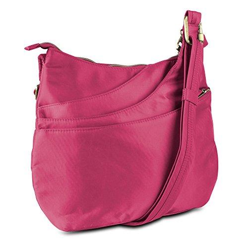 Travelon Anti-Theft Drape Pocket Crossbody – Magenta