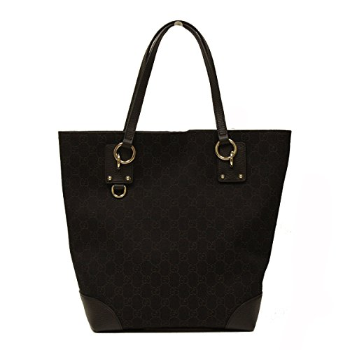 Gucci Medium Brown Canvas and Leather Tote Bag 353706