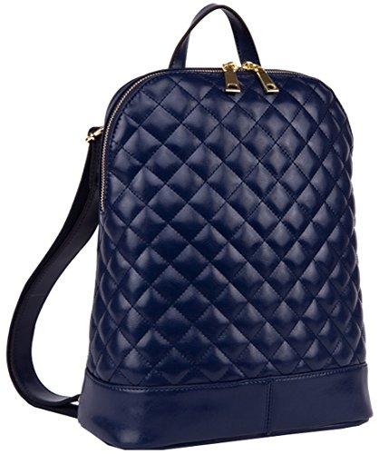 Heshe® Fashion Genuine Leather Lightweight Plaid Backpack Shoulder Bag Cross Body Tote Top-handle Handbag School Purse Travel Preppy Style for Women