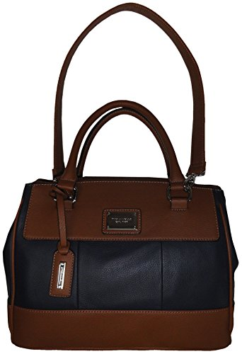 Tignanello Women's Pebble Leather*Social Status* Satchel, Navy/Cognac