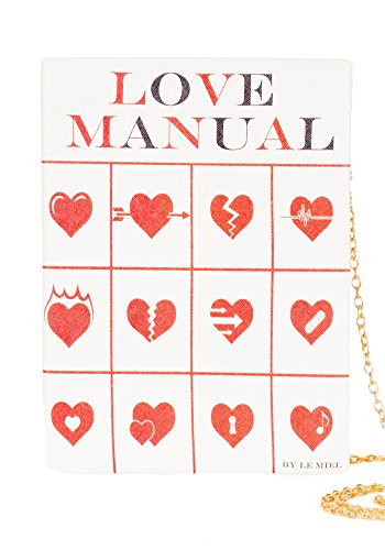 Sidecca Vintage Love Manual Story Book Clutch Chain Cross Body Purse