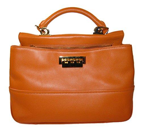 ZAC Zac Posen Women's Eartha Envelope Peek-a-boo Bag, Orange