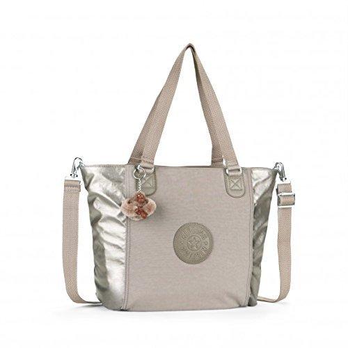 Womens Kipling Shopper Combo S Handbag Dune Pewter Tf
