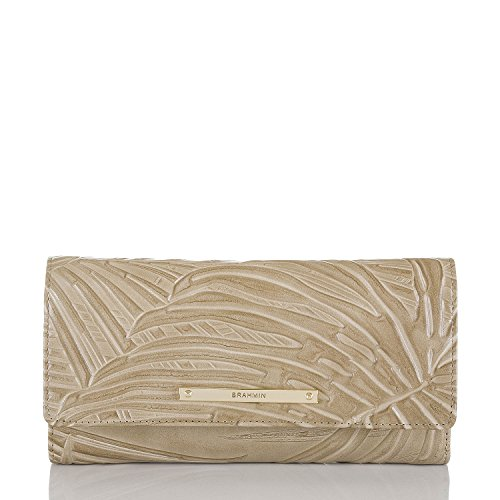 Brahmin Taupe Havana Soft Checkbook Wallet Clutch