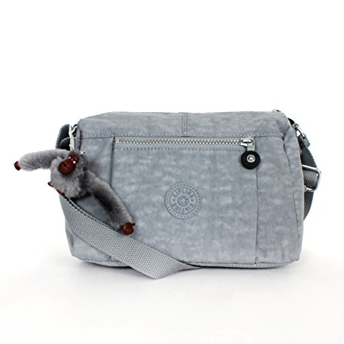 Kipling Wes Messenger Shoulder Bag Steppe Grey