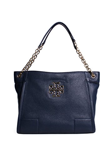 Tory Burch Britten Small Slouchy Tote in Hudson Bay