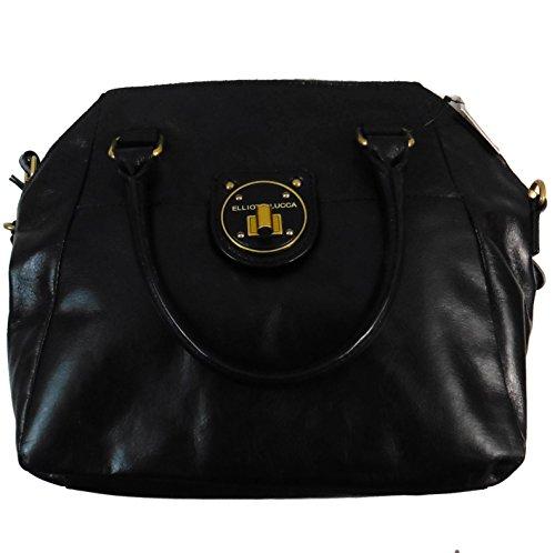 Elliott Lucca Signature 100% Leather Hand & Shoulder Bag One Size Black