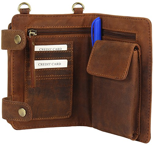Crossbody Pouch Wallet Bag Leather