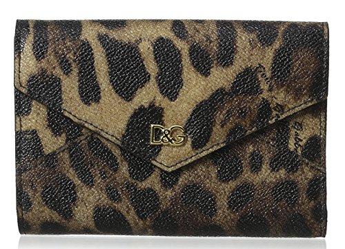 Dolce & Gabbana Leopard Saffiano French Flap Crespo Wallet