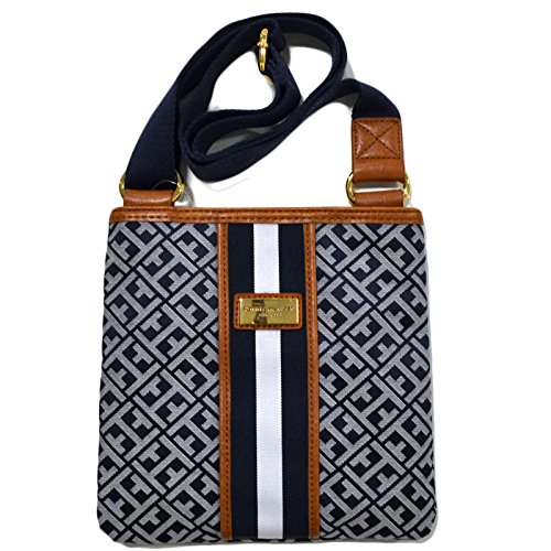 Tommy Hilfiger Women's Crossbody Handbag Blue Jacquard Purse