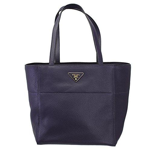 Prada Women's Purple Soft Leather Shoulder Bag Br5090