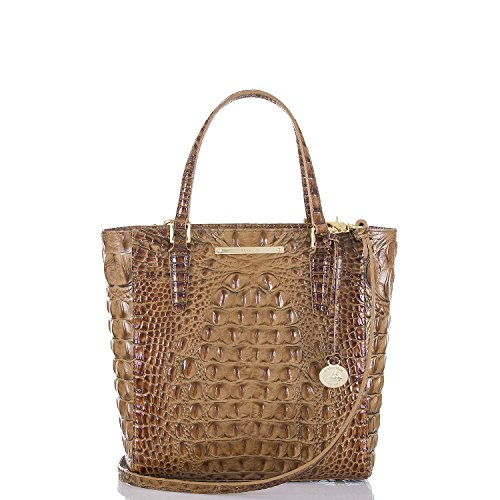 Brahmin Toasted Almond Harrison Carryall Genuine Leather