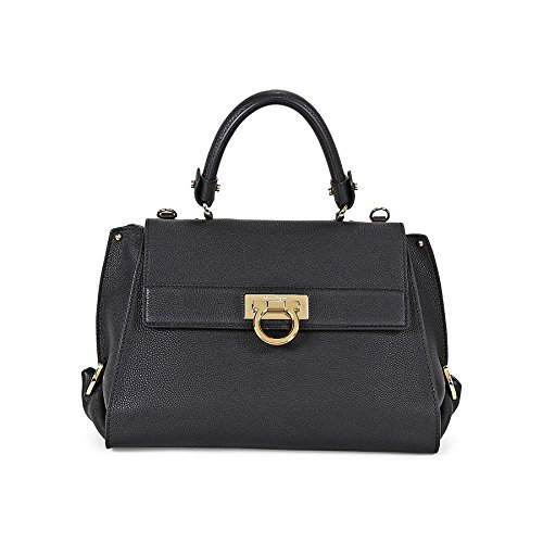Ferragamo Sofia Black Satchel Handbag