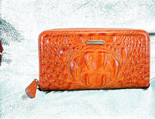 Brahmin Suri Zip Around Continental Wallet in Embossed Croco Leather