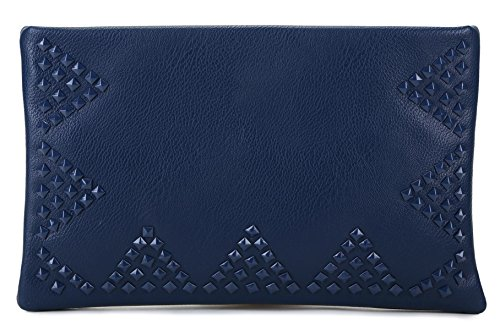 Scarleton Triangle Studded Accent Clutch H3406
