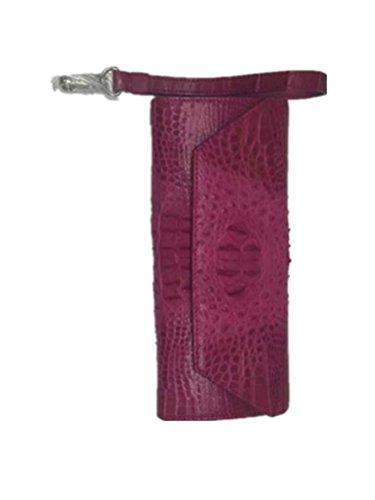 Topleatherware Women's Crocodile Back Skin Leather Clutch Bag / Wallet