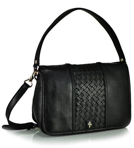 Cole Haan Heritage Weave Stripe II Ava Shoulder Bag, Black, One Size