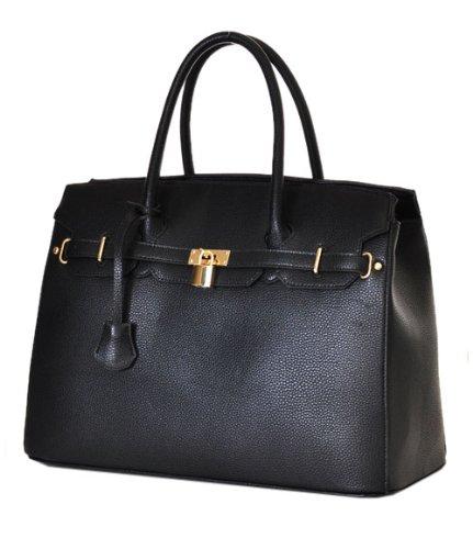 "Designer Inspired Purses ""Hermes Birkin -Similar Style"" London Office Tote Large *Black"