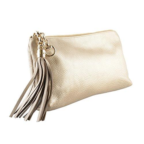 Gucci Women's 100% Leather Gold Clutch Handbag