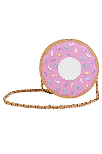 Nila Anthony Frosted Doughnut Donut Shaped Clutch Bag Purse
