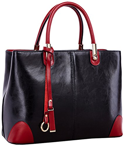 Heshe Fashion 2015 New Ladies Real Genuine Leather Shoulder Bag Top Handle Tote Cross Body Messenger Satchel Handbag