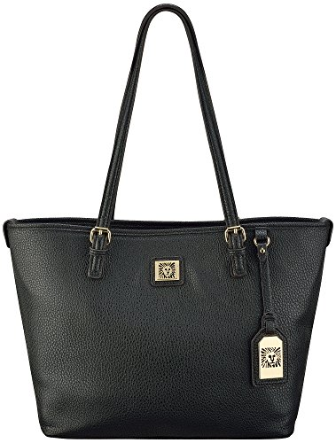 Anne Klein Perfect East-West Tote Handbag One Size Black