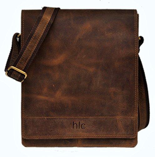 ea3f366ffb Handolederco Leather Messenger Satchel Laptop Bag for Men s and Women s  Leather Satchel Laptop Messenger Unisex Ipad