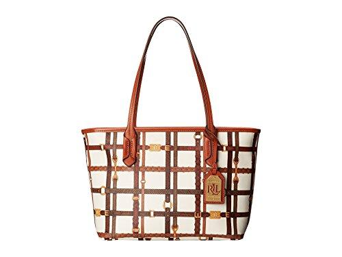Ralph Lauren Gallaway Shopper Tote Cream/Brown Color