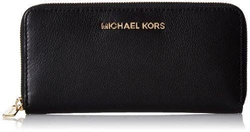 Michael Kors Bedford Zip Around Continental (Black) Wallet