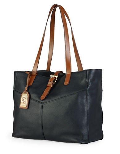 LAUREN RALPH LAUREN Landrey Leather Simple Tote Black