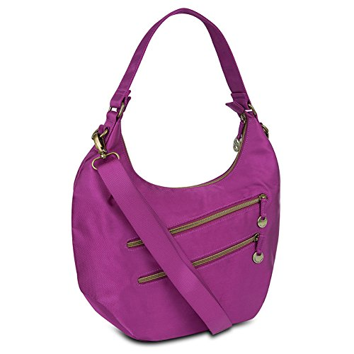 Travelon Convertible Hobo with RFID Protection – Plum
