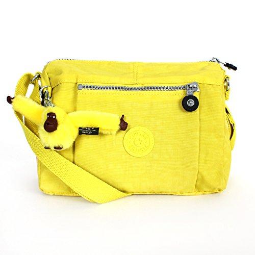 Kipling Wes Messenger Shoulder Bag Bright Yellow