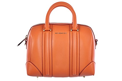 Givenchy women's leather handbag shopping bag purse lucrezia mini orangene