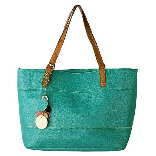 SHENGXILU Women's PU Leather Multicolor Handbag