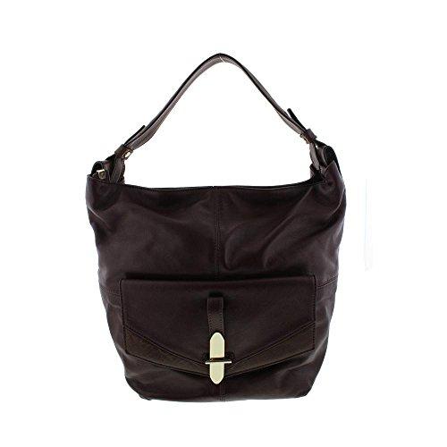 Kooba Womens Bedford Leather Colorblock Tote Handbag