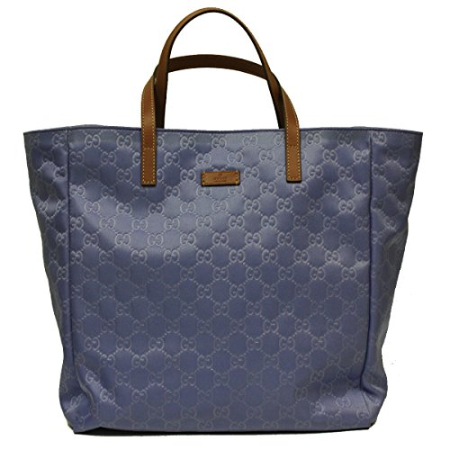 Gucci Blue Nylon and Leather Travel Beach Bag Open Tote 282439