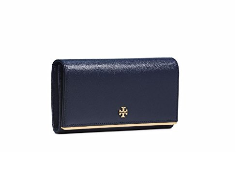 Tory Burch Robinson Patent Envelope Continental Wallet Tory Navy