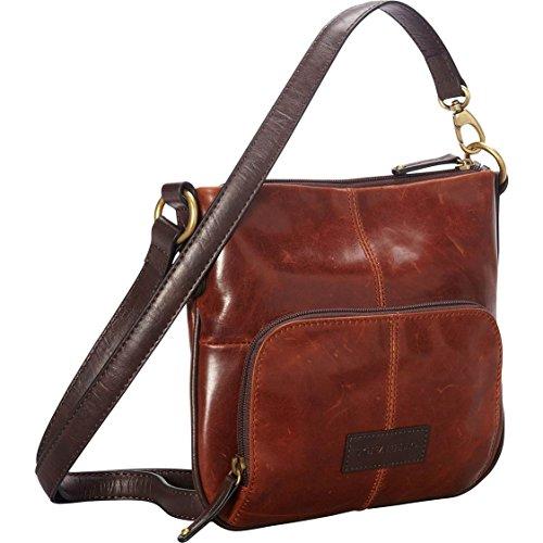 Women's Tignanello Classic Beauty Vintage Looking Brown/Rust Cross Body Shoulder Bag Purse