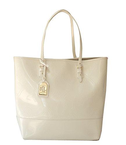 LAUREN Ralph Lauren Belmar Tote Bag Ivory Handbag Purse