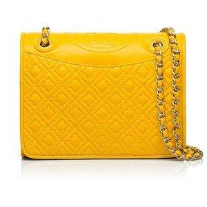 Tory Burch Fleming Yellow Pineapple Bag New