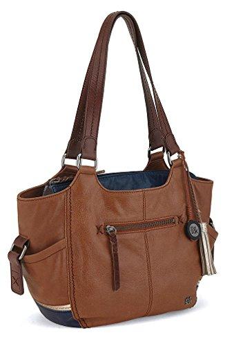 The Sak Kendra Satchel Top Handle Bag, Golden Tobacco Block, One Size