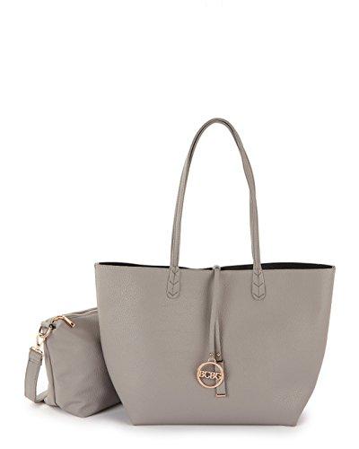 Bcbg Reversible Tote with Matching Convertible Bag Hermes Gray/black