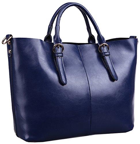 Heshe® 2015 New Fashion Women Genuine Leather Lash Cross Body Tote Top-handle Shoulder Bag Purse Messenger Bag Zipper Simple Style Handbag