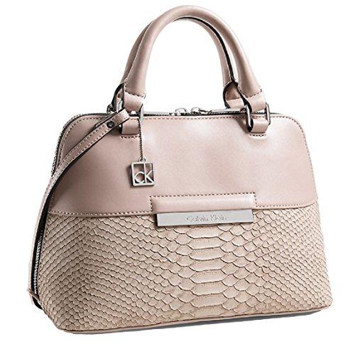 Calvin Klein Valerie Snake Dome Satchel Bag Handbag Purse (Rose)